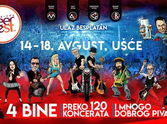 17. Belgrade Beer Fest: Više od 120 koncerata za pet dana