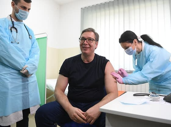 Predsednik Vučić posetio selo Rudna Glava